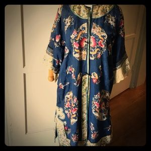 Antique Chinese silk embroidery jacket.Fabulous!